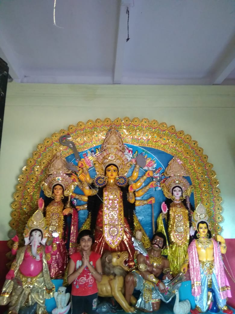 SRI DURGA PUJA OF SRI YOGA CENTER IN Dr Gunamoy Muphopadhyay's family at KUNARPUR-SIHAR.